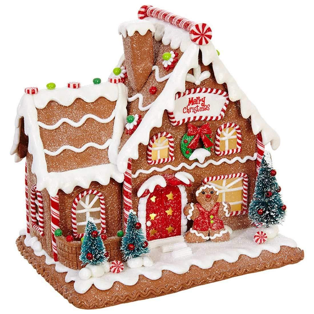 los angeles 9c6ca 4e839 RAZ Imports 7.5 Inch Lighted LED Gingerbread House