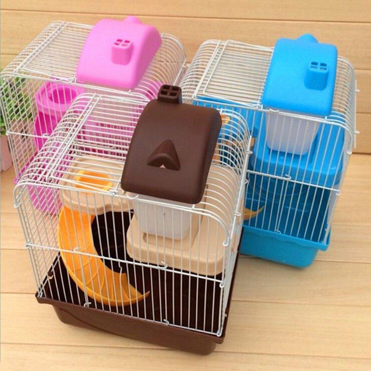 Generic yanhong-uk3–160104–1291yh5869yh Farbe: zufällige Small Pet Käfig Ebenen Flo Hot Hamster Hot hamst 2Etagen Ebenen Boden Mall Pet für Rennmaus Maus Rennmaus MO Wasser Flasche Rad Farbe: zufällige