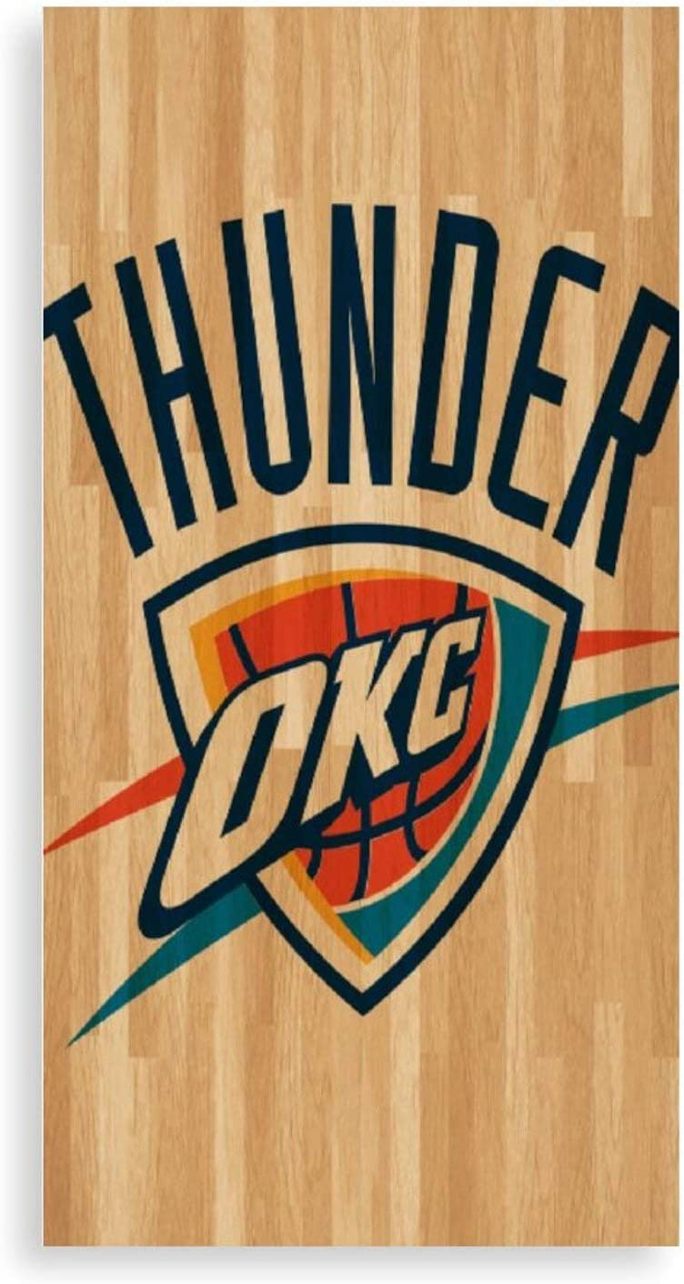"""3D Printed Wall Art Canvas Print Oklahoma_City_Thunder Frameless Picture Printed Art, Ready to Hang for Dining Room Art Wall Decor Artwork 8""""x18"""""""