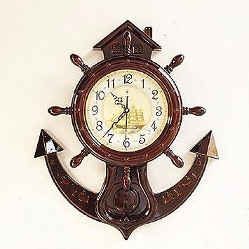 Relojes LQXZM-Creativo, salón reloj de pared, silenciar el reloj, reloj electrónico, colgantes, de mesa moderna,un reloj de pared de cuarzo: Amazon.es: ...
