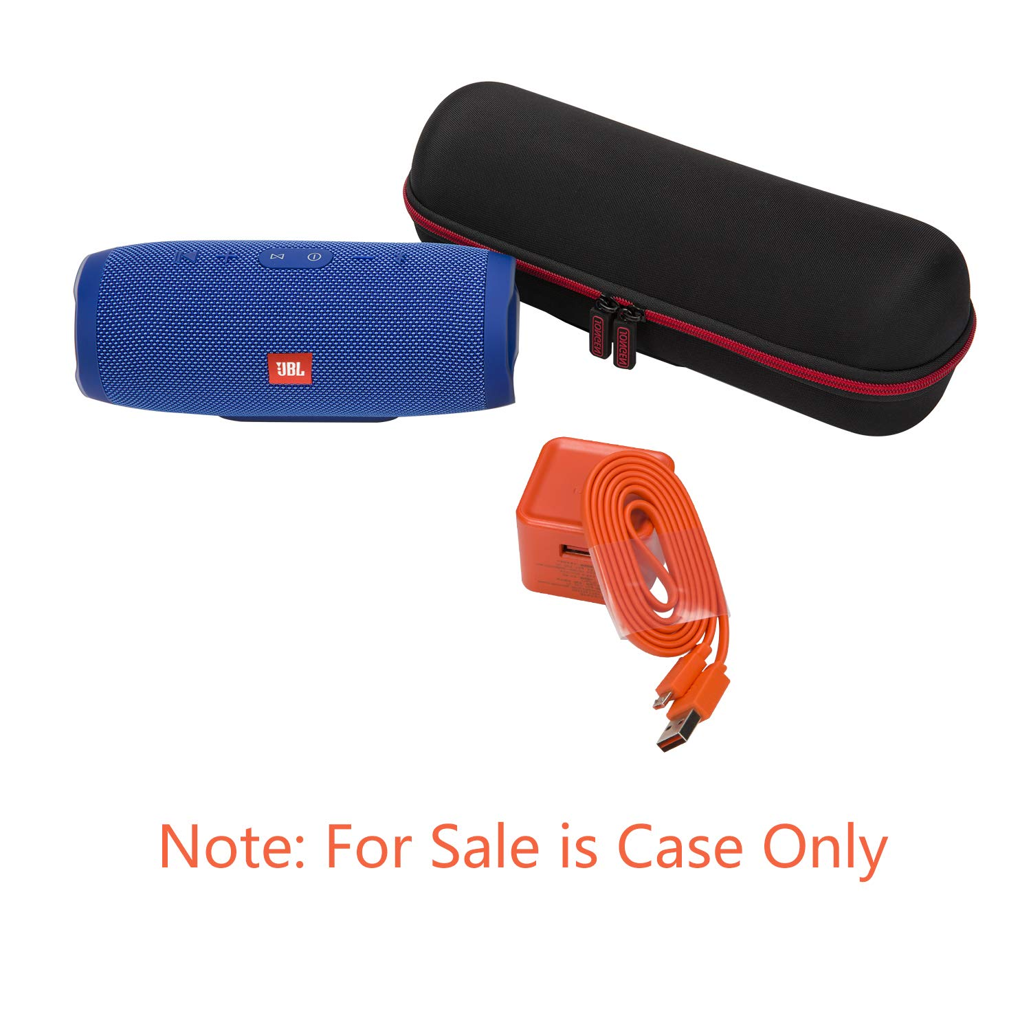JONGEN Case for JBL Charge 3 Waterproof Portable Bluetooth Speaker, Hard Strong Travel Carrying Storage Bag.