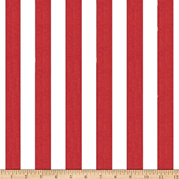 Stripe Red/White Fabric By The Yard