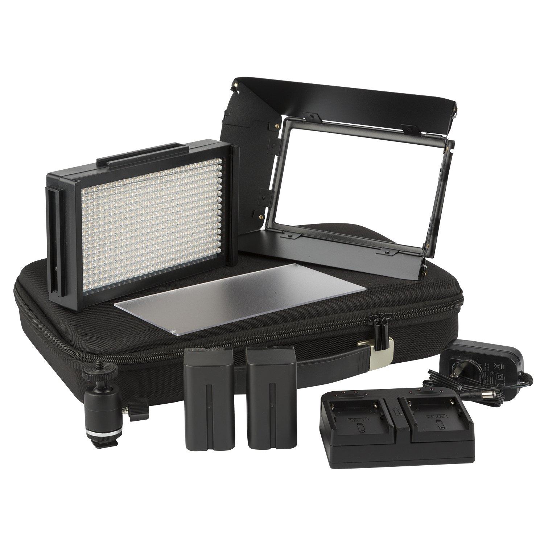 Ikan Mylo Mini Bi-color LED Travel Kit, Black (MB4-TK)