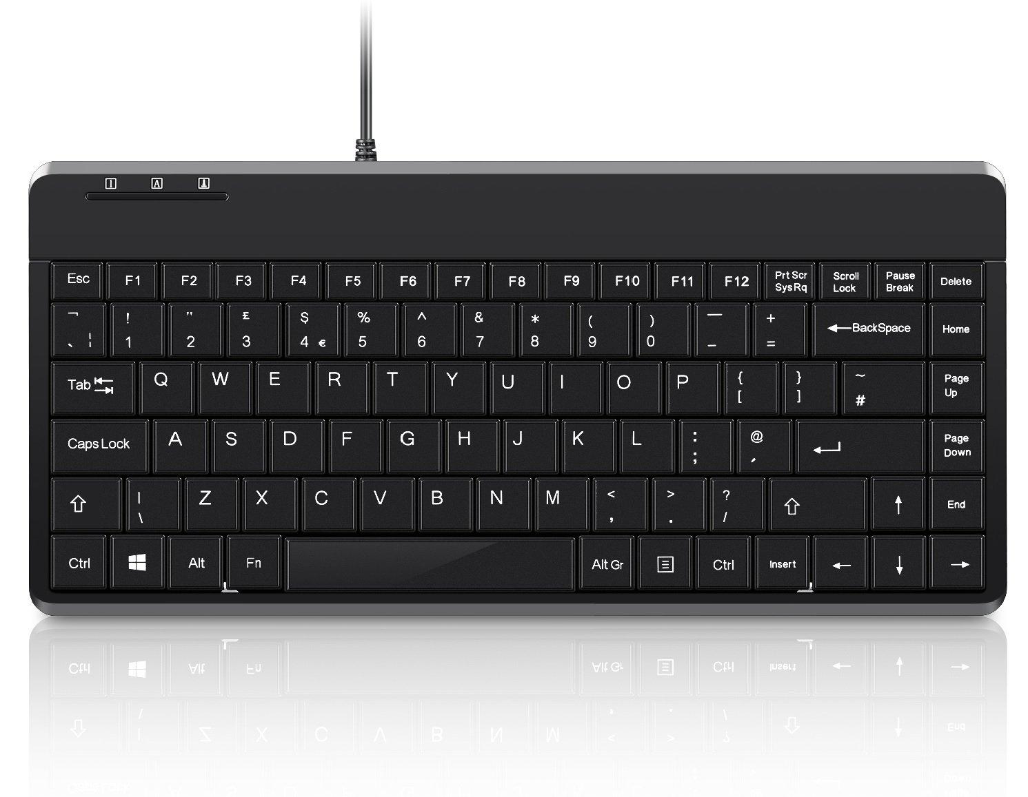 1ecfa617c1b Perixx PERIBOARD-409U Mini Wired Keyboard - USB - 315x147x21mm - UK Layout:  Amazon.co.uk: Computers & Accessories