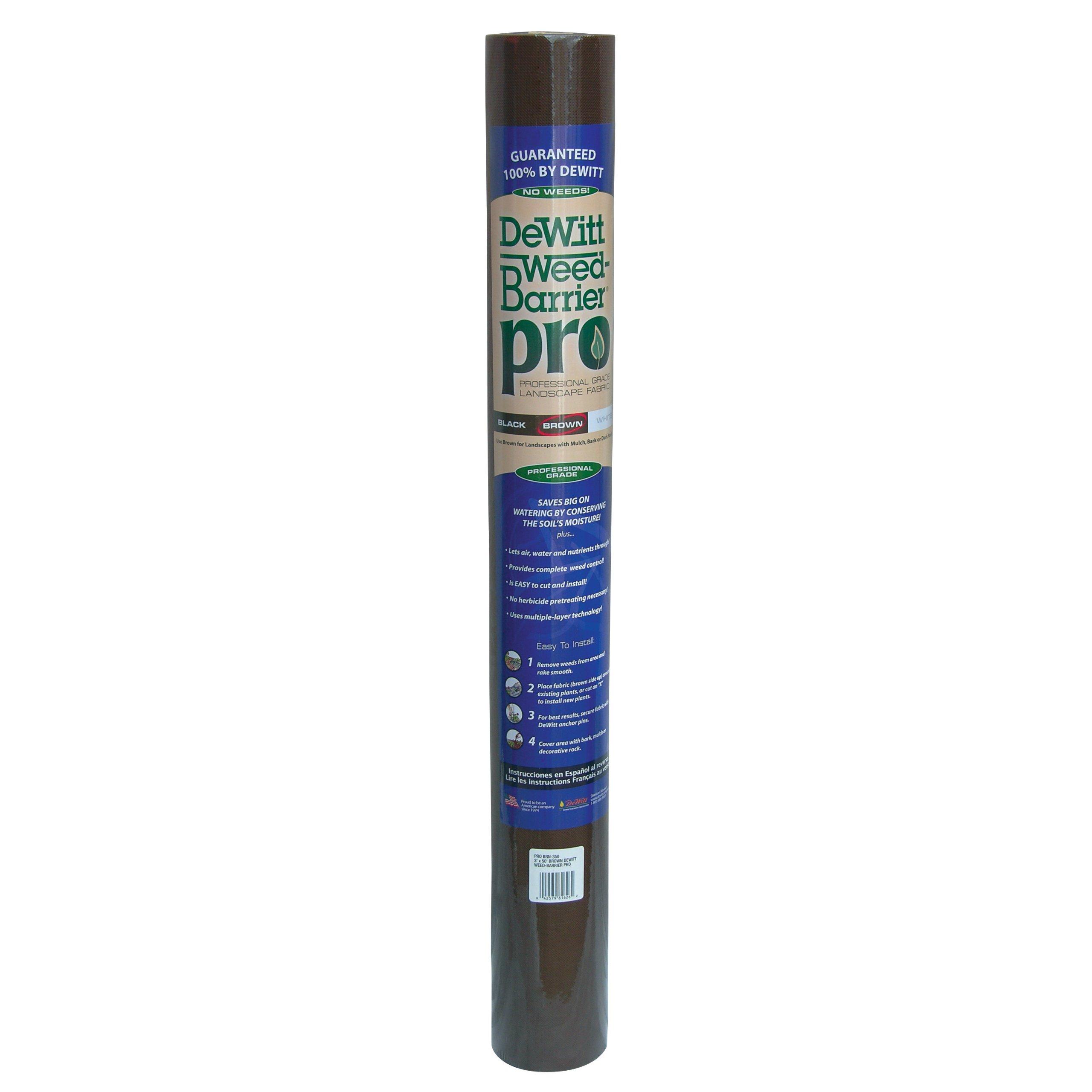 DeWitt PS BRN-4300 Weed Barrier Pro, Brown