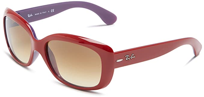 fe6648bd9b Ray-Ban JACKIE OHH - OPAL VIOLET TOP RED Frame BROWN GRADIENT Lenses 58mm  Non