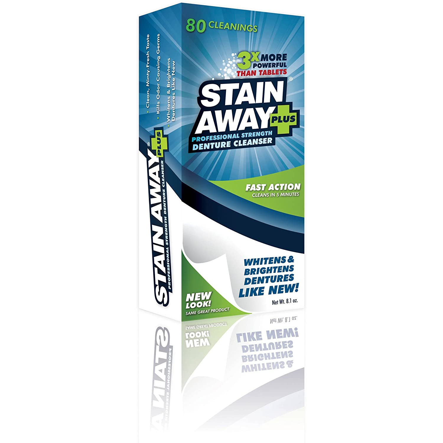 Stain Away Plus Denture Cleanser, 8.1 oz by Stain Away (Pack of 3)