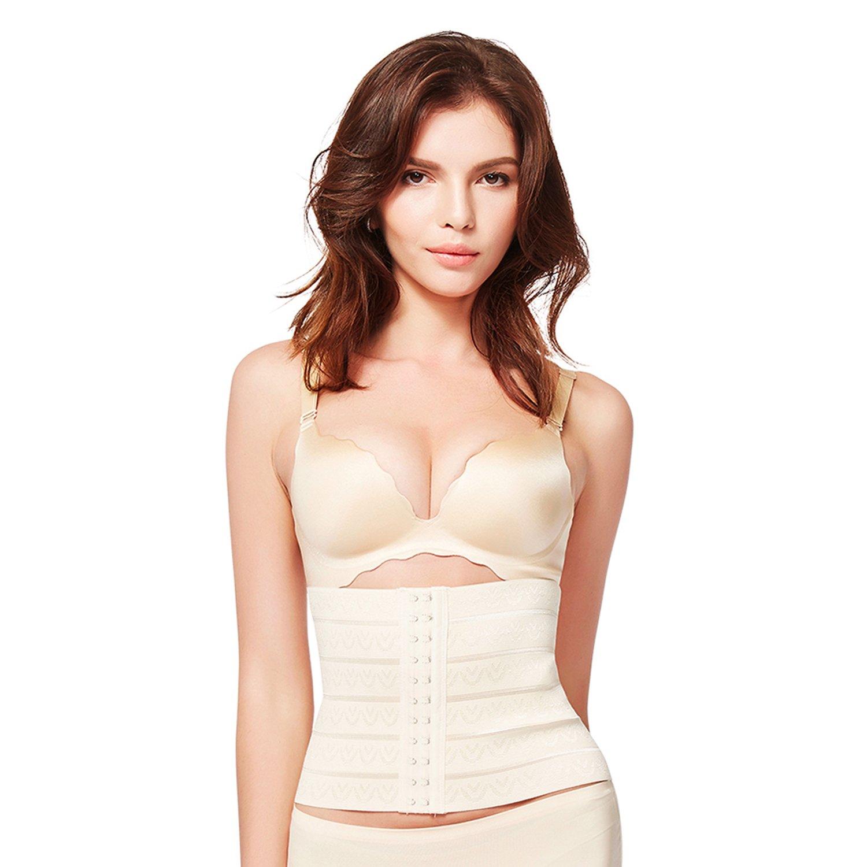 Queenral Postpartum Waist Belt Three-Breasted Elastic Corsets Plus Size 21A23