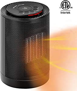 VIVOHOME 1200W 3 Modes Portable Ceramic Space Heater Fan with Thermostat and Auto Oscillating, 70-inch Long Power Cord for Indoor Use, Black