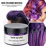 Temporary Purple Hair Wax Natural Ash Matte Hair
