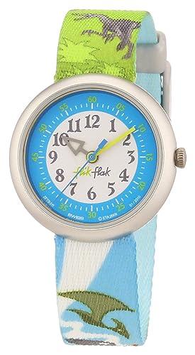 Swatch Colorosaurus - Reloj para niños de cuarzo, correa de caucho color: Amazon.es: Relojes