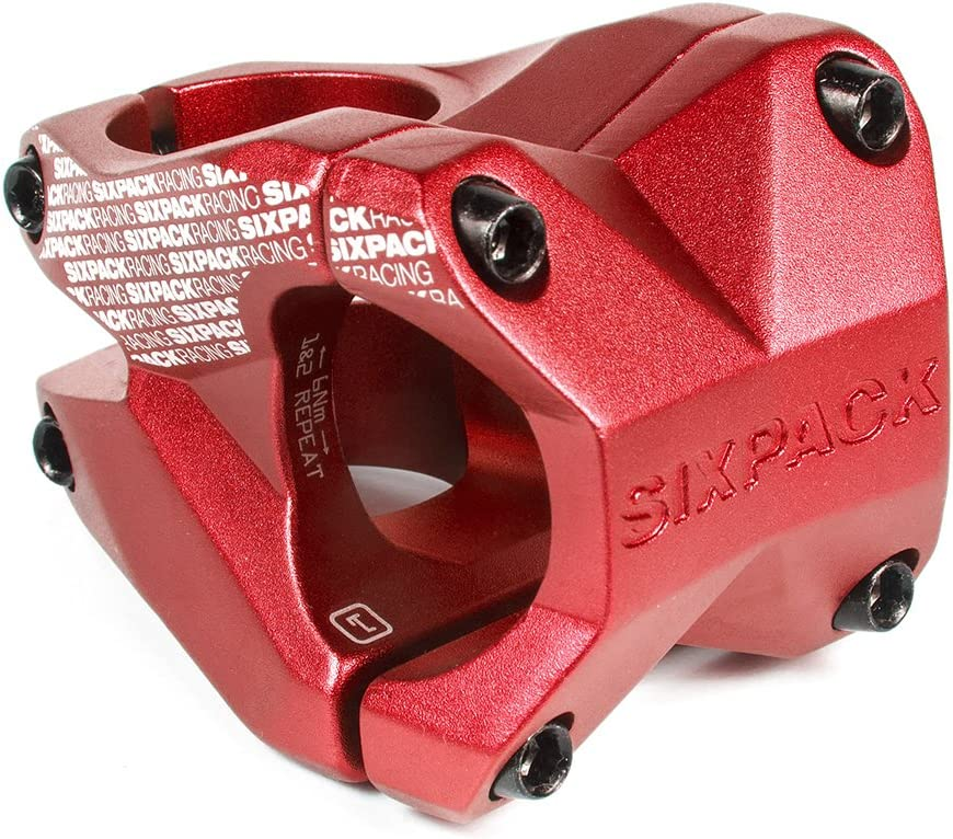 Sixpack Menace Fahrrad Vorbau Spacer rot