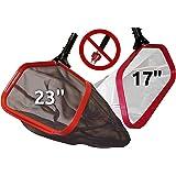 ProTuff Silt & Leaf Rake Bundle - Unlimited Free Replacements - 2-Items: 23 Inch Medium & 17 inch Fine Mesh Pool Cleaner…