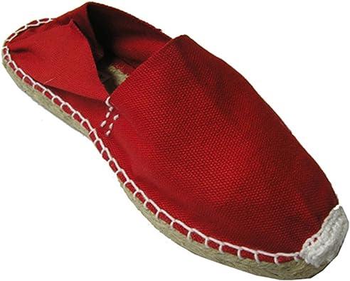 Alpargatas de Esparto Plana Made in Spain en Rojo: Amazon.es: Zapatos y complementos