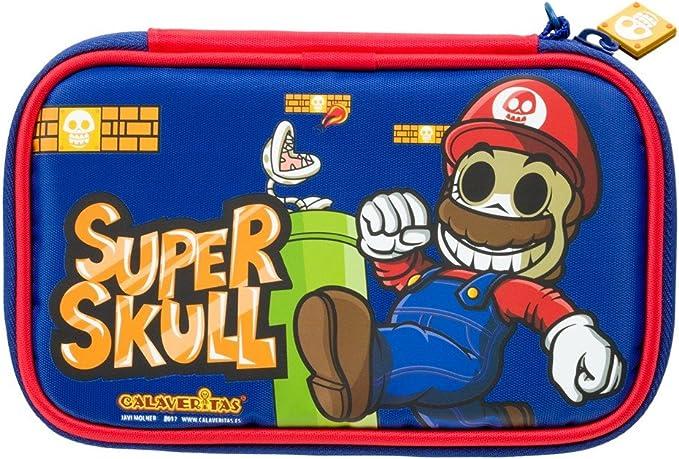 Indeca- Bolsa funda de transporte para Nintendo 3DS XL - 2DS XL de Calaveritas (modelo Super Mario): Amazon.es: Videojuegos