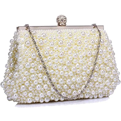 Gorgeous Ivory Vintage Beads Pearls Crystals Evening Clutch Bag FREE UK  DELIVERY  Amazon.co.uk  Shoes   Bags b5a589b7f467