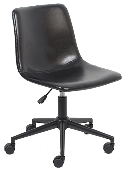 Fine Btexpert Aati Mid Back Fuax Leather Task Chair Black Office Chair Andrewgaddart Wooden Chair Designs For Living Room Andrewgaddartcom