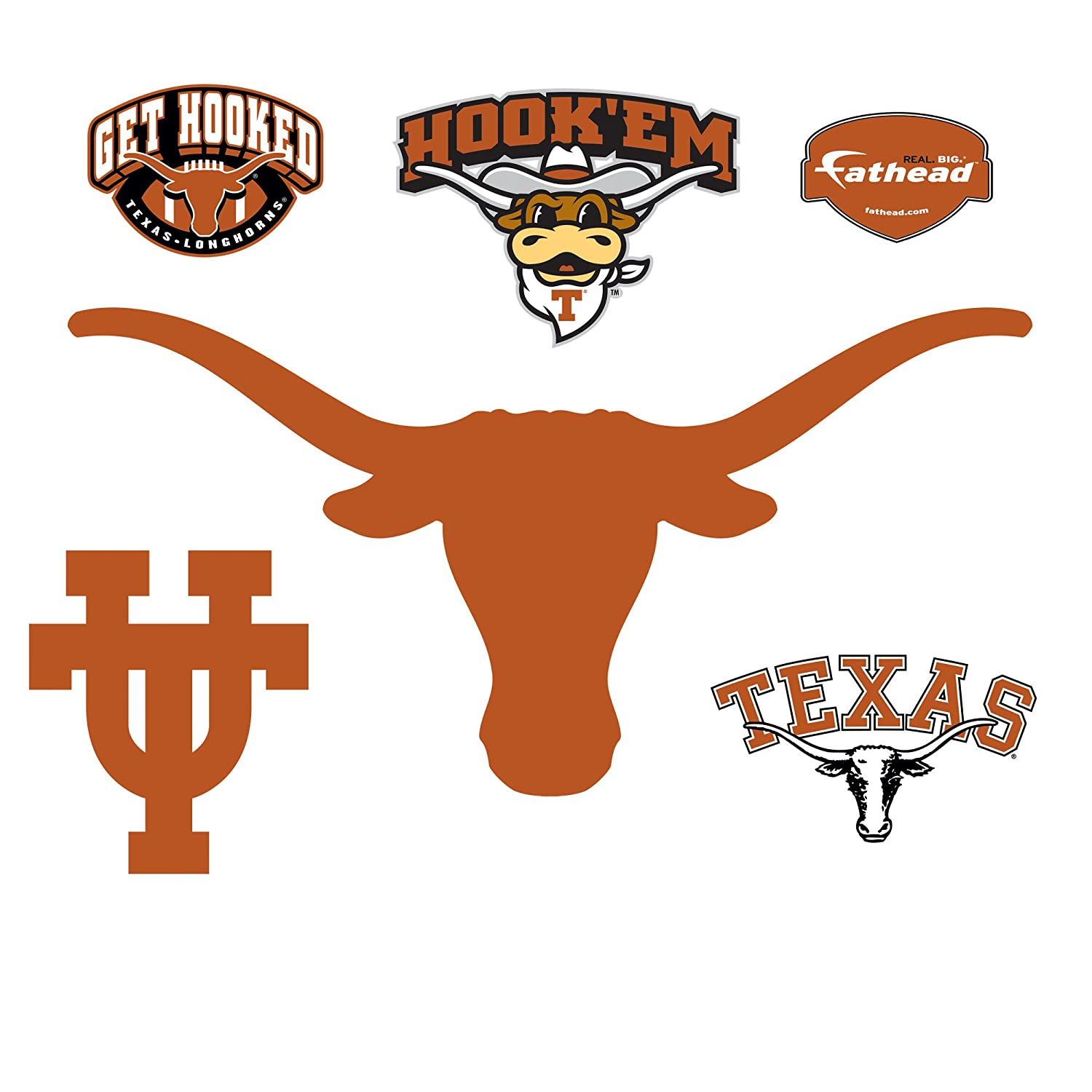 Amazon fathead university of texas longhorns logo wall decal amazon fathead university of texas longhorns logo wall decal sports fan wall banners sports outdoors sciox Images