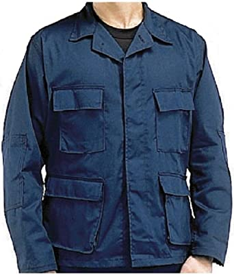 Amazon.com  Navy Blue Tactical Military Police Poly Cott Long Sleeve ... 43fe4073dd9
