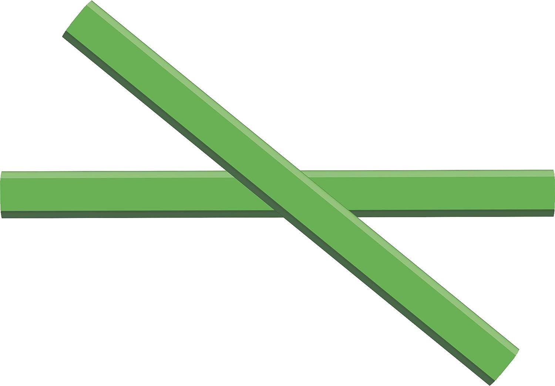 GRAPHITE Carpenter Pencils #2 Pencil Lead   Rectangular Pencil   (72) pcs   Wide Graphite Pencil for Wood Flooring Marker & Concrete Marking   For Measuring Tool Set   Neon Green