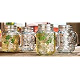 Home Essentials Country Chic Rooster 16oz Mason Jars, Set of 4