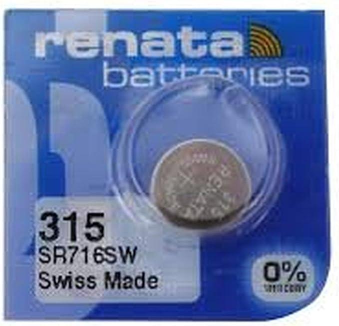 Renata Uhrenbatterie Sp 315 Sr716sw 1 Pack Elektronik