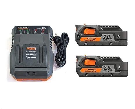 Amazon.com: Ridgid(2) 18 V 2.0 Ah batería de iones de litio ...
