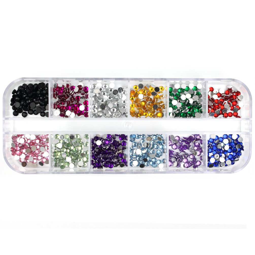 Glow Nail Art Decorations; Round Rhinestones, Approx 720 pieces; 3mm (NA94) by Glow Paragon Enterprise Limited Glow-NA-94