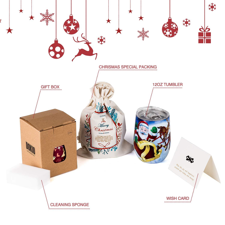 Amazon DOKIO 12 oz Christmas Gift Mug Sippy Cup For Adults