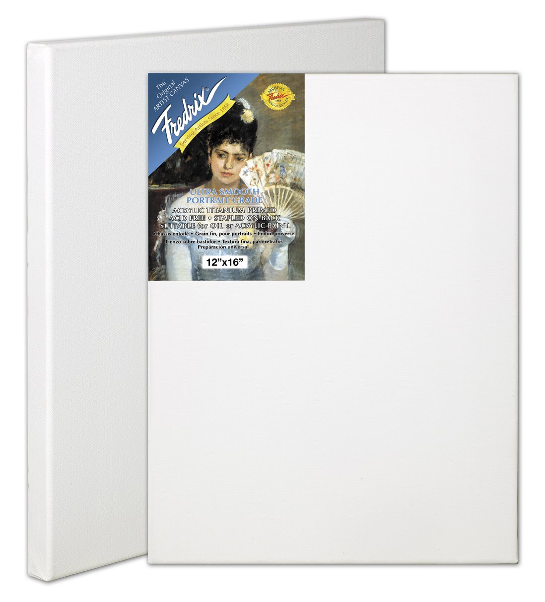 Fredrix 5612 Ultra Smooth Stretched Canvas, 24 by 36-Inch by Fredrix