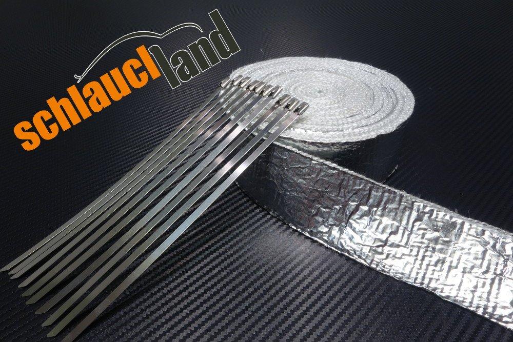 Hitzeschutzband Thermoband Auspuffband Krümmerband 15m Weiß Neu