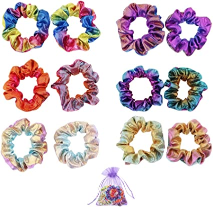 SENDILI 12 Piezas Elástico Hair Scrunchies - Goma de Pelo Colores ...