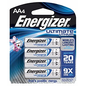 1.5 volt Lithium Energizer AA Batteries Pack of Twelve