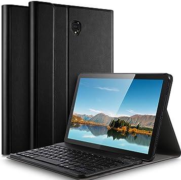IVSO Teclado Estuche para Samsung Galaxy Tab A 8.4 (2020) (QWERTY English), Slim Stand Funda con Removible Wireless Teclado para Samsung Galaxy Tab A4S (SM-T307U), Negro: Amazon.es: Electrónica