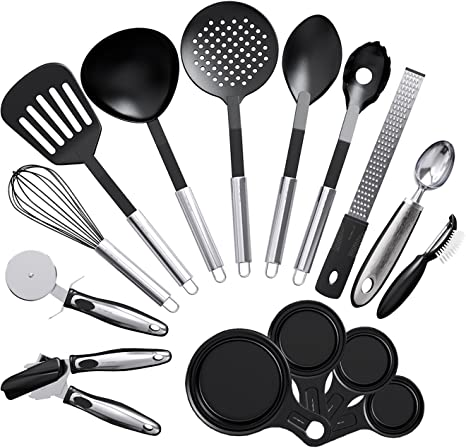 Vremi 15 Piece Kitchen Gadgets Cooking Utensils Set - Kitchen Gadgets and  Tools Cooking Utensil Set - Unique Fun Cool Kitchen Gadgets with Plastic ...