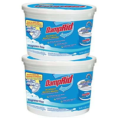 DampRid FG50T HI-Capacity Moisture Absorber, 2-Pack, 4-Pound, 2 Piece: Home & Kitchen