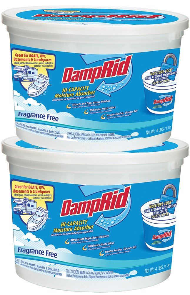 DampRid FG50T HI-Capacity Moisture Absorber, 2-Pack 4-Pound 2 Piece