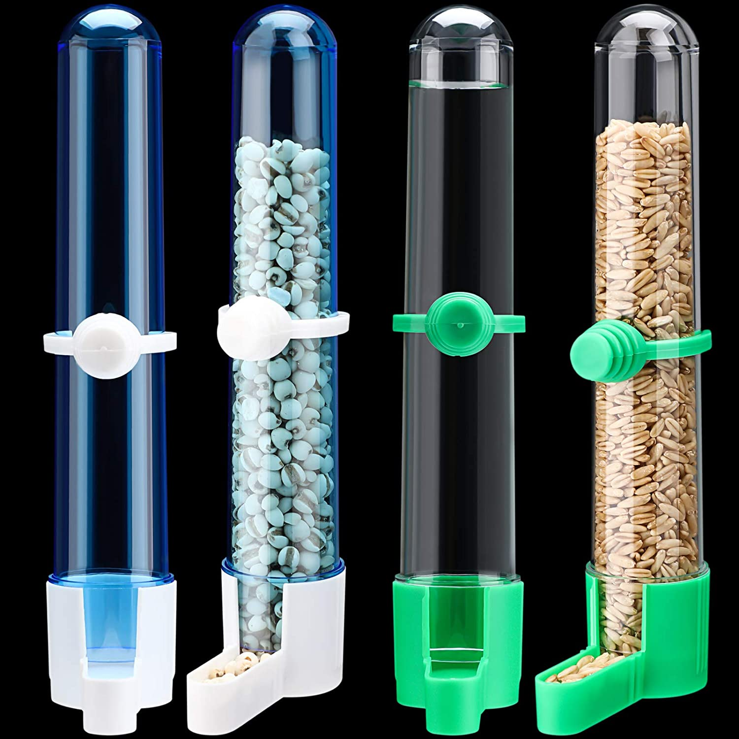 4 Pieces Automatic Bird Water Dispenser for Cages Bird Feeder and Waterer Bird Accessory Drinker Bottle for Hamster Parrot