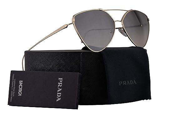 850e86f04 Image Unavailable. Image not available for. Color: Prada PR51US Sunglasses  Pale Gold w/Gradient Grey Mirror Silver 62mm Lens ZVN5O0 SPR51U PR