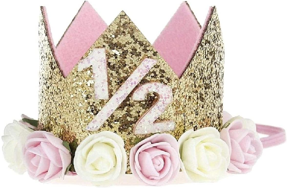 Crown Prince Princess With Roses Birthday Party Adults Children Gold Color 1 1 2 Years Gift Idea For Christmas And Birthday Unisex Amazon Co Uk Baby