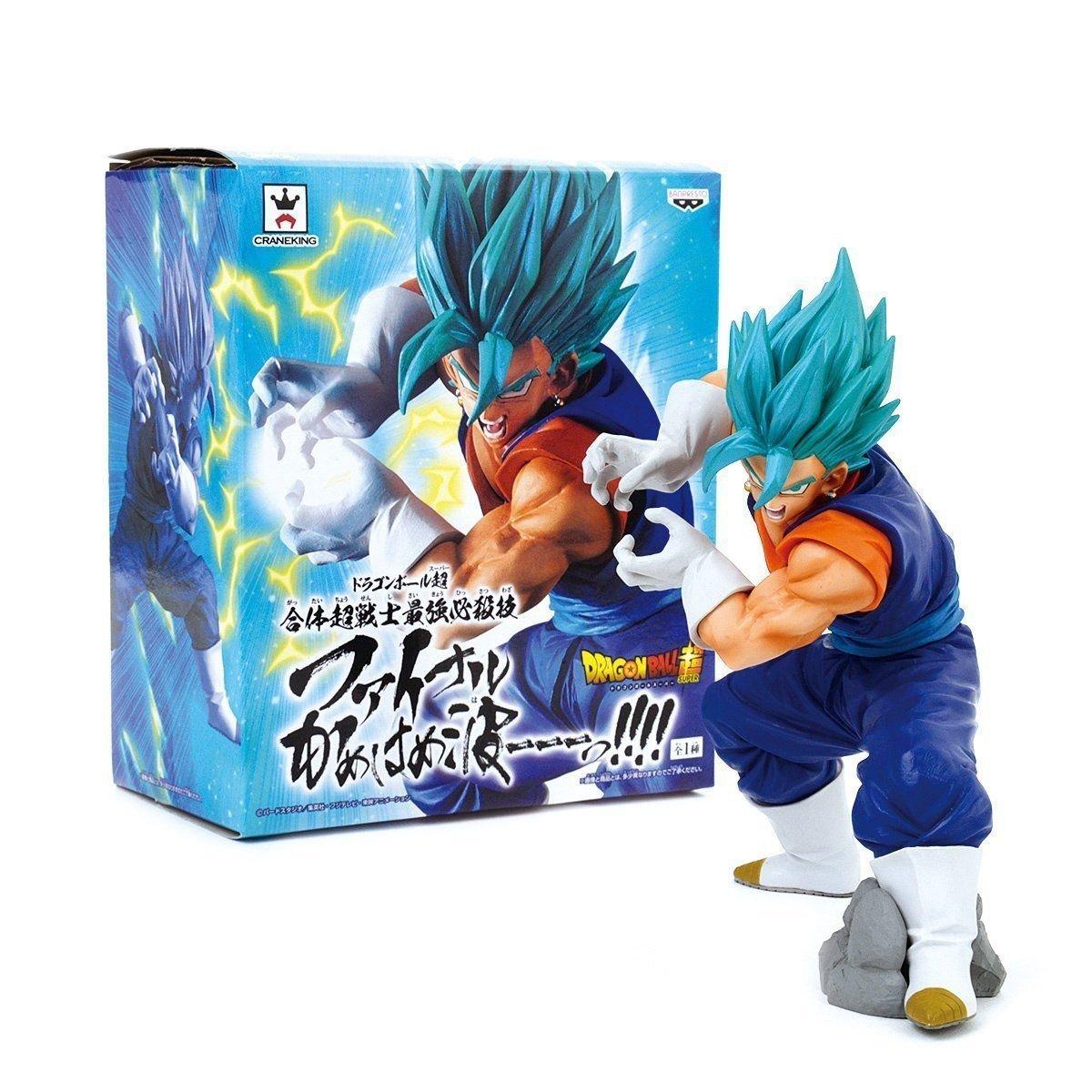 BANPRESTO 604724Scultures Dragon Ball Z, Blau Vegito Final Kameha Action Figur, 16cm 16cm