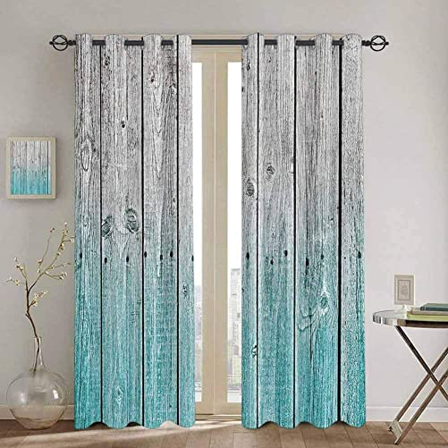 SONGDAYONE Curtain Panels Rustic Repeatable use Wood Panels Background