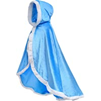 Party Chili Fur Princess Hooded Cape Cloaks Costume for Girls Dress Up 2-12 Years