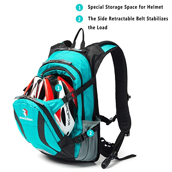 1933062c3b Amazon.com : ROCKRAIN WindSeeker Insulation Hydration Cycling Backpack Pack  with 2.5L BPA Free Leak Proof Water Bladder, Sufficient Storage Space for  ...