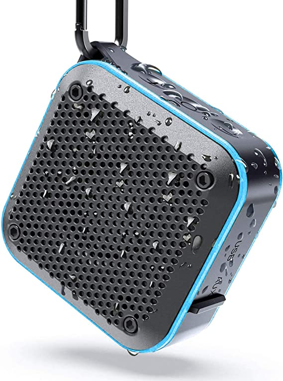 LEZII IPX7 Waterproof Shower Bluetooth Speaker Portable Wireless Outdoor Speaker Support TF Card Auxin FM Radio Hook for Home Pool Beach Bicycle Boati at Kapruka Online for specialGifts