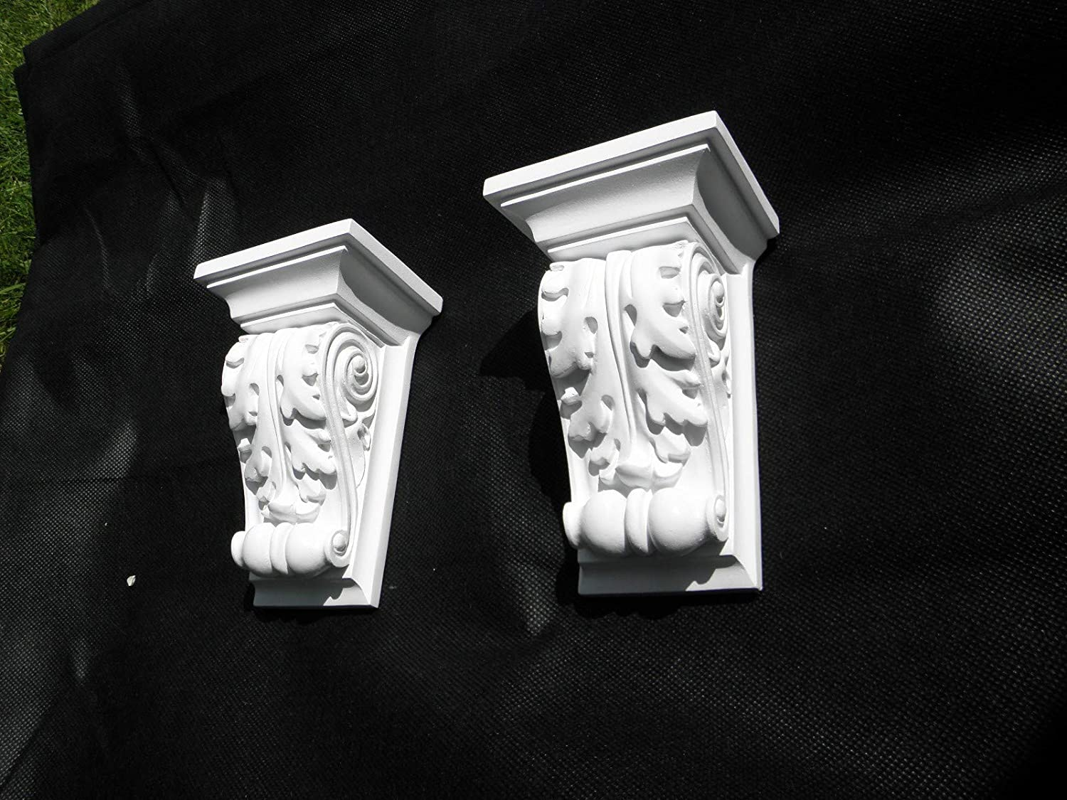 Rococo Style, Scroll ACANTHUS LEAF PLASTER Shelf Corbel Pair of Plaster