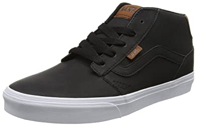 131ac945819c Vans Men s Chapman Mid (Leather) Black True White Sneakers - 9 UK ...