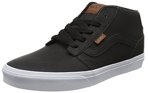 a4f8af1932 Vans Men s Chapman Mid (Leather) Black True White Sneakers - 9 UK ...