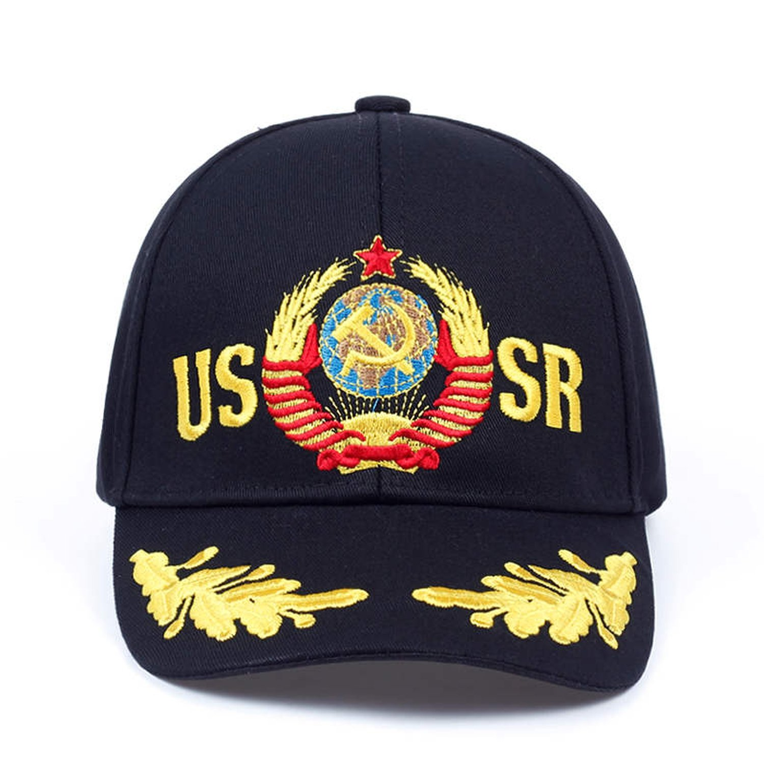 491a6b2f2e0 Moktasp 2019 CCCP USSR Russian Style Baseball Cap Unisex Black Red Cotton Snapback  Cap with 3D Embroidery Hats at Amazon Women s Clothing store