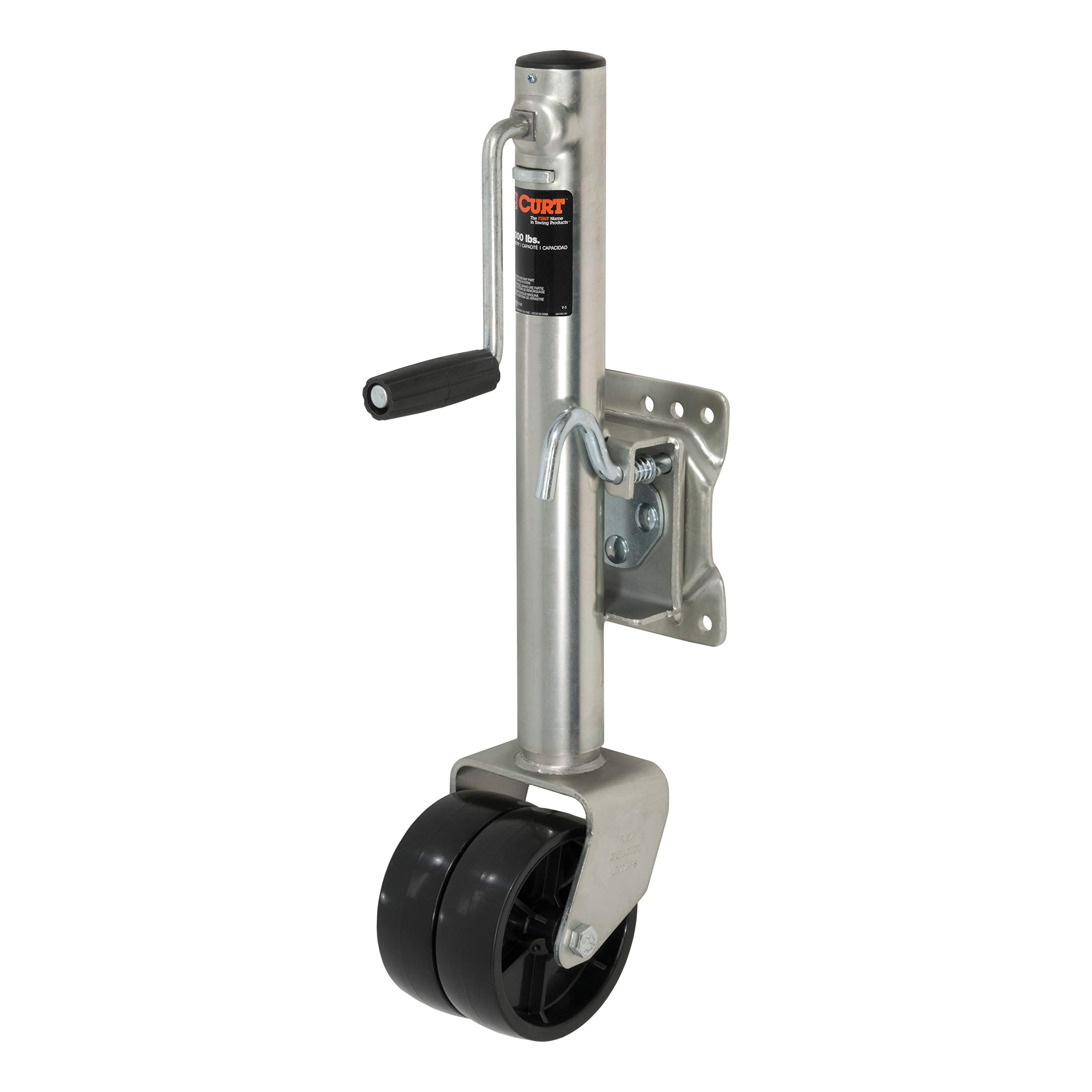 CURT 28156 Marine Boat Trailer Jack with 6-Inch Wheels 1,500 lbs, 10-3/8 Inches Vertical Travel by CURT